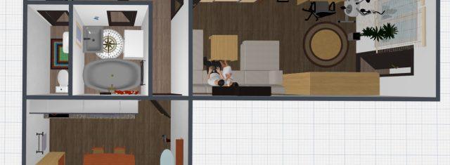 1 izbový 39 m2 byt v Michalovciach